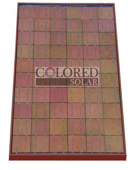 red solar panel